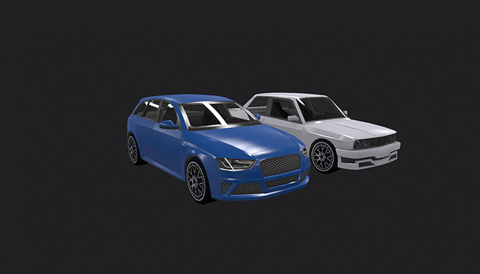Low Poly Destructible 2Cars no. 6