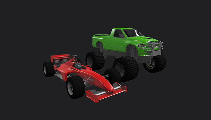 Low Poly Destructible 2Cars no. 4