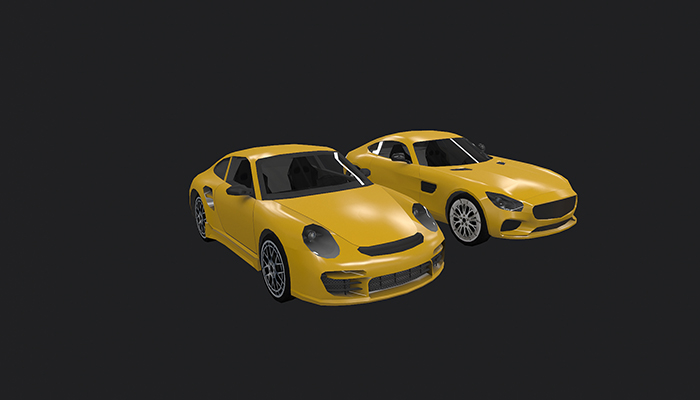 Low Poly Destructible 2Cars no. 2