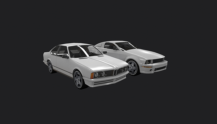 Low Poly Destructible 2Cars no. 1