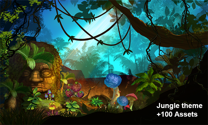 2D Jungle Pack – Handcrafted Art