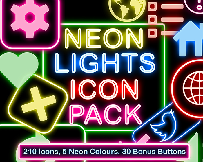 Neon Lights Icon Set