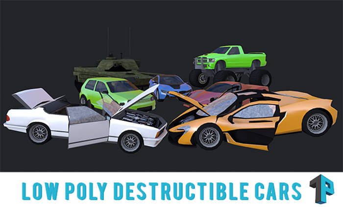 Low Poly Destructible Cars