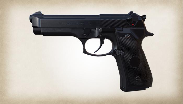AAA Quailty FPS Beretta M9 Pistol Asset