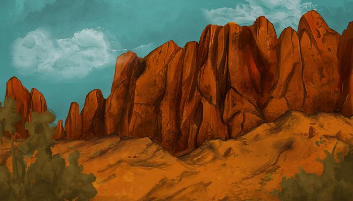 Desert Game Background