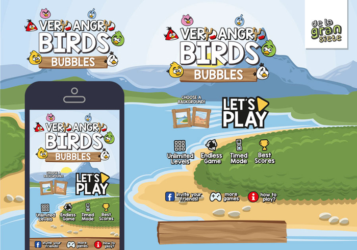 Very Angry Birds Bubbles Game GUI Assets