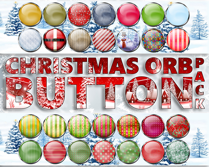 Christmas Orb Button Pack