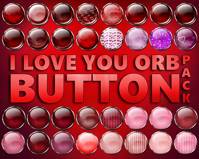 I Love You Orb Button Pack