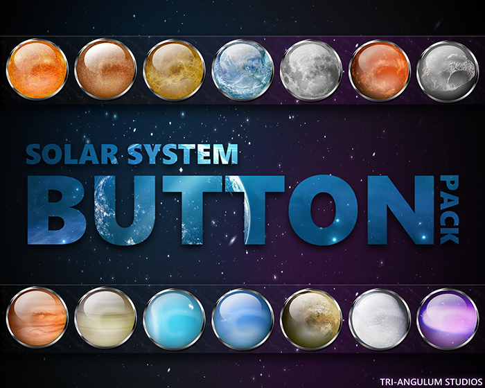 Solar System Orb Button Pack