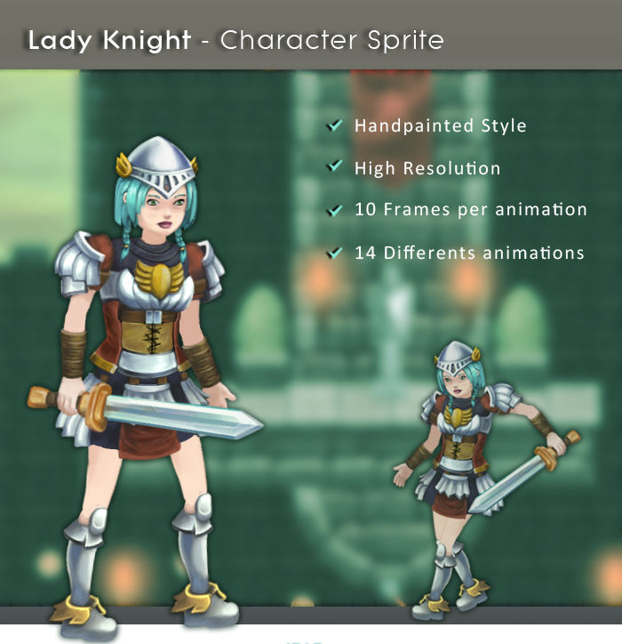 Lady Knight – Character Sprite