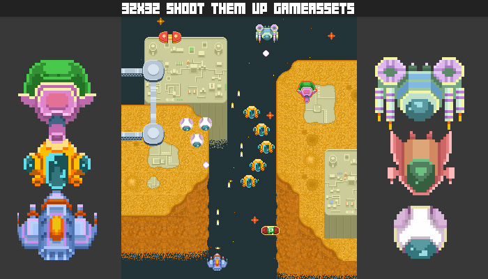 32×32 Arcade Shoot Them Up Gamepack