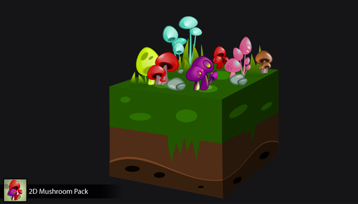 2D Mushroom Pack