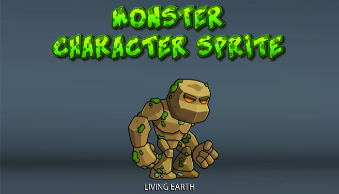 Monster Character Sprite – Living Earth