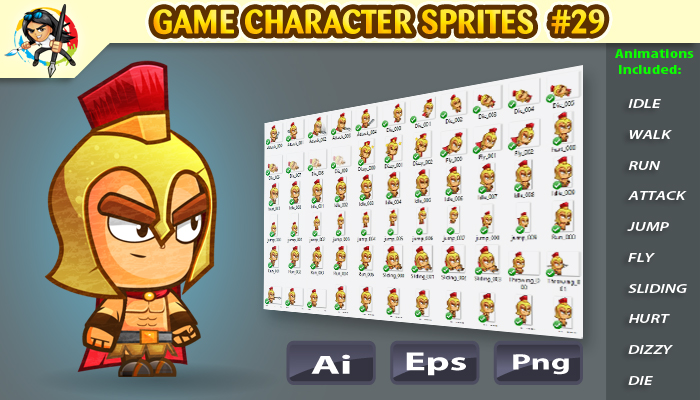 Spartan 2D Game Character Sprites27
