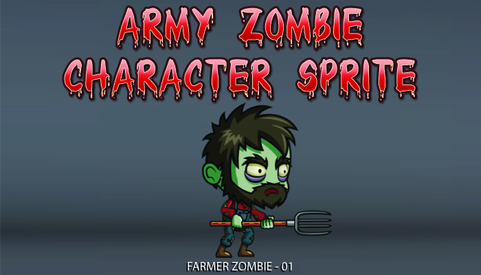 Farmer Zombie Character Sprite – 01