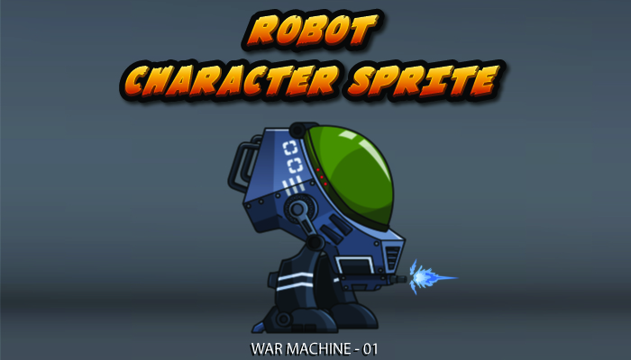 Robot Character Sprite – War Machine 01