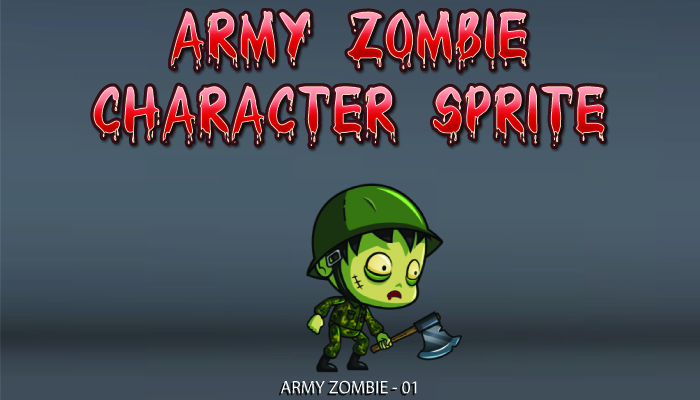 Army Zombie Character Sprite – 01