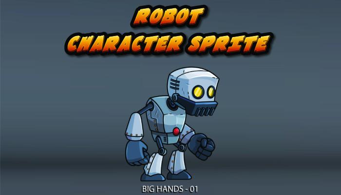 Robot Character Sprite – Big Hands 01