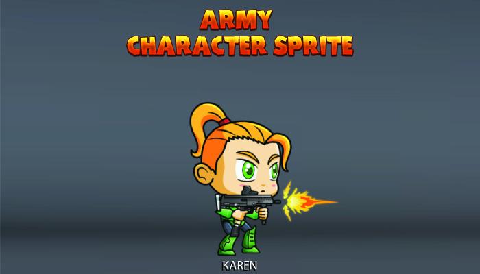 Army Character Sprite – Karen