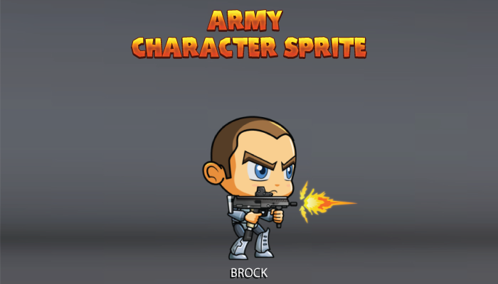 Army Character Sprite – Brock