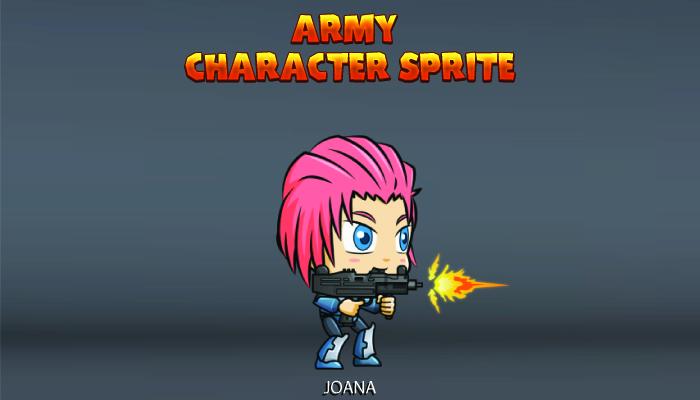 Army Character Sprite – Joana