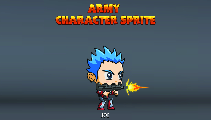 Army Character Sprite – Joe