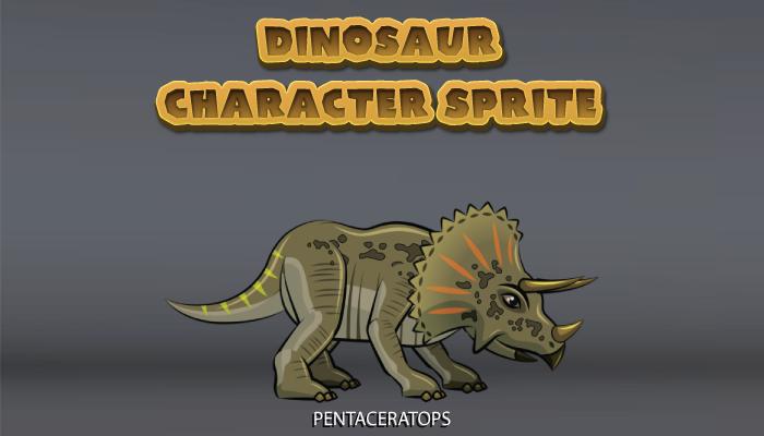 Dinosaur Character Sprite – Pentaceratops