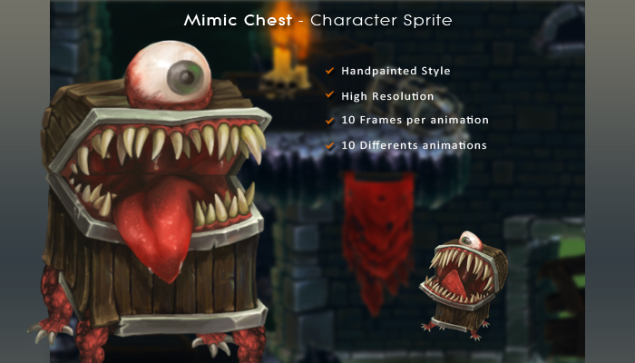 Mimic Chest – Character Sprite