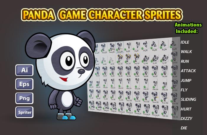 Panda 2D Game Character Sprites 12