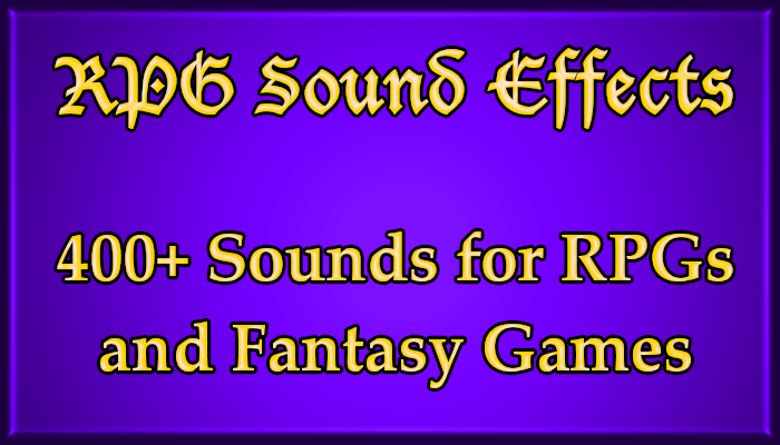 RPG Sound Effects Bundle
