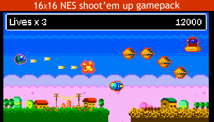16×16 Nes shoot them up gamepack