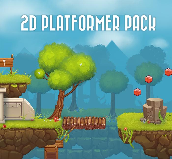 2D Platformer Level Pack