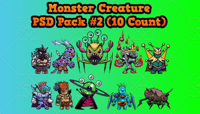 Monster Creature PSD Pack 2