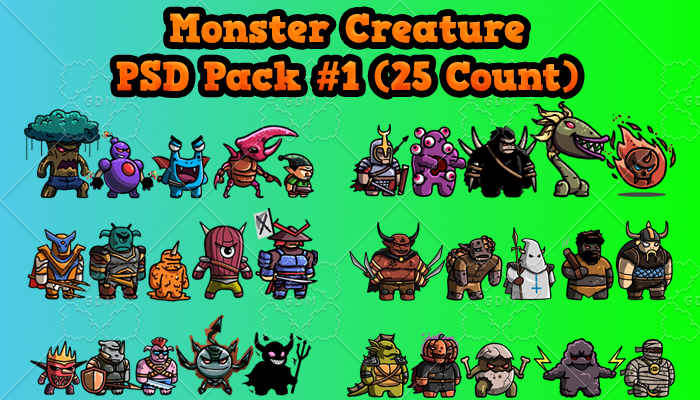 Monster Creature PSD Pack 1