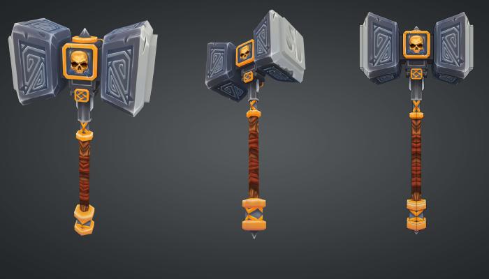 Handpainted hammer