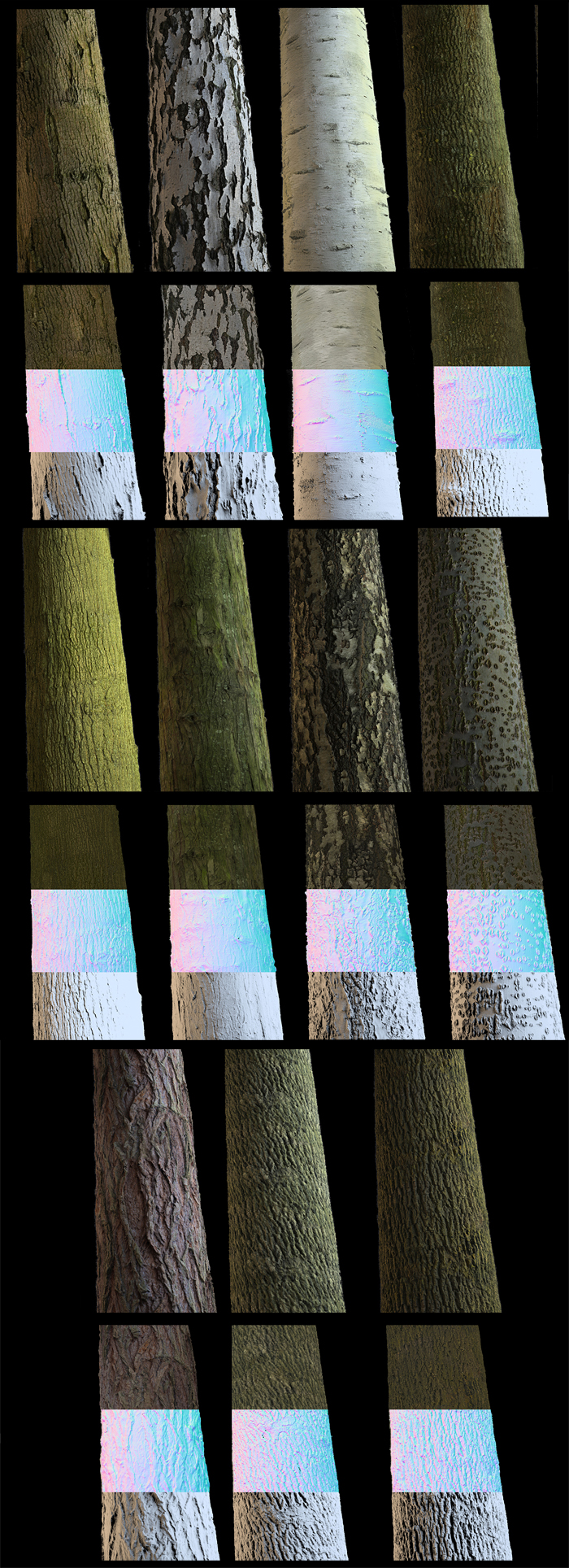 Tileable Tree Bark Texture Pack