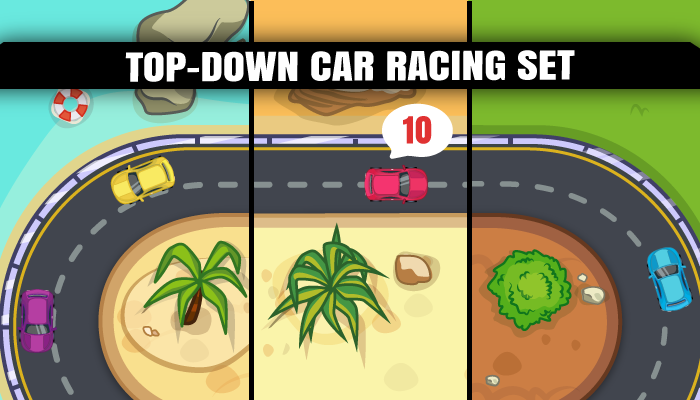 Top Down Car Racing Set