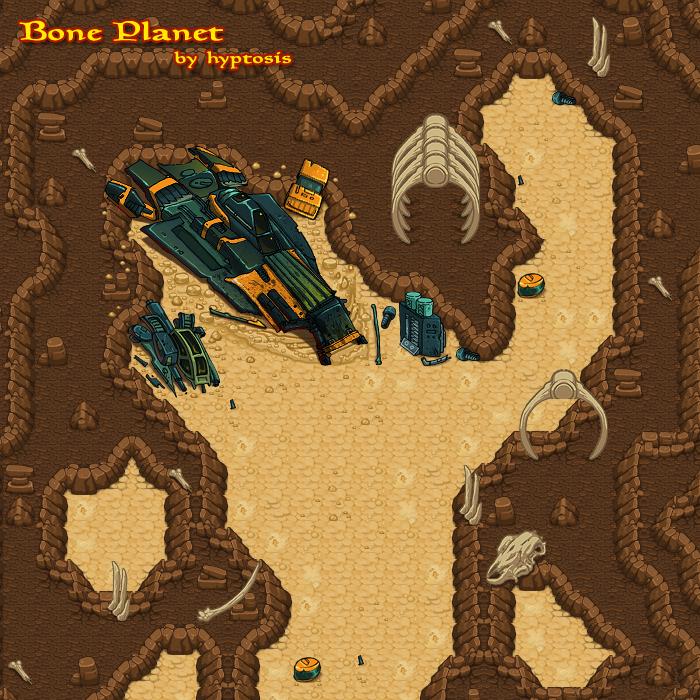 Bone Planet Tileset