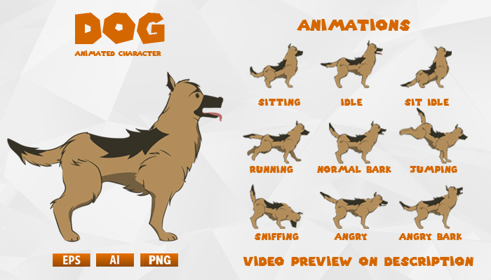 DOG animated character