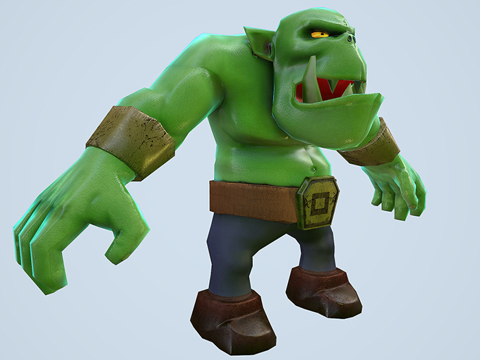 Cartoon Orc Lowpoly Game Character