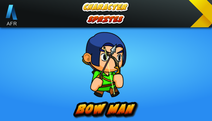 AFR Tiny Character Sprite – Bow Man