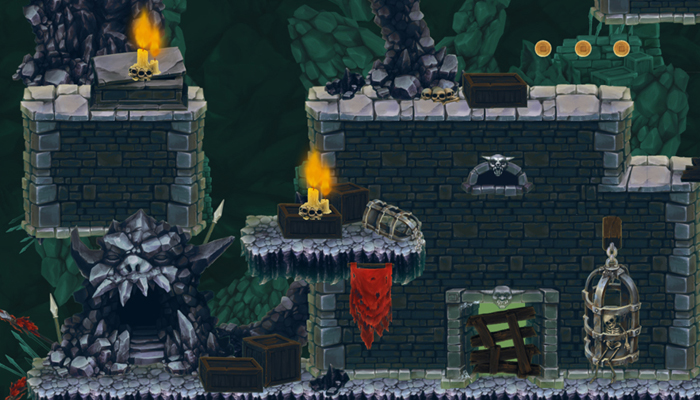 Platform Game Tileset – Dungeon