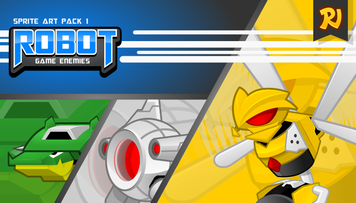 Robot Game Enemies Sprite Art Pack 1