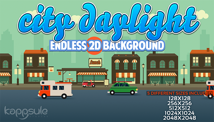 City Daylight 2D Endless Background