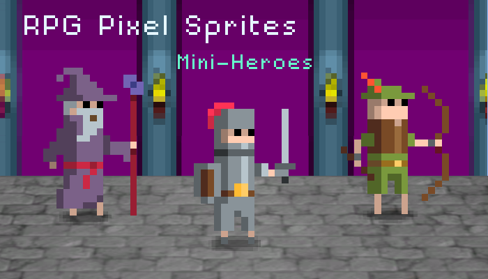 RPG Pixel Sprites – Mini Heroes