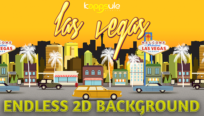 Las Vegas Endless 2D Background