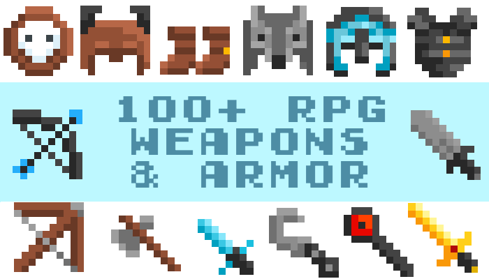 Pixel RPG Weapons and Armor