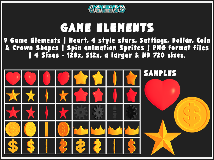GAME ELEMENTS – PACK No. 1