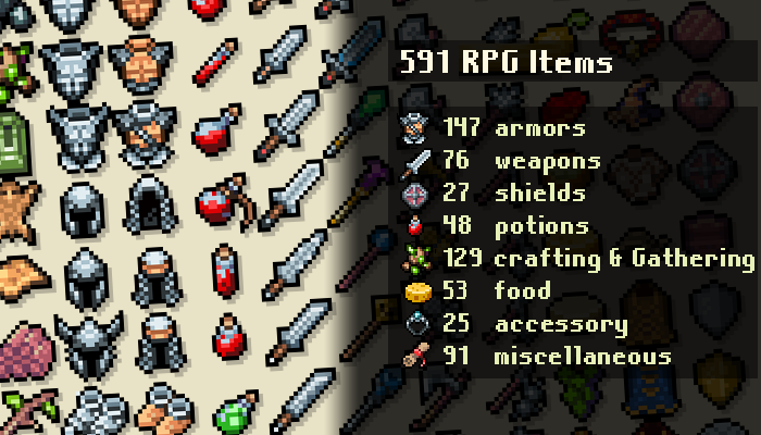 RPG Items – Retro pack