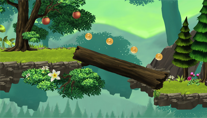 Platform Game Tileset – Green Valley